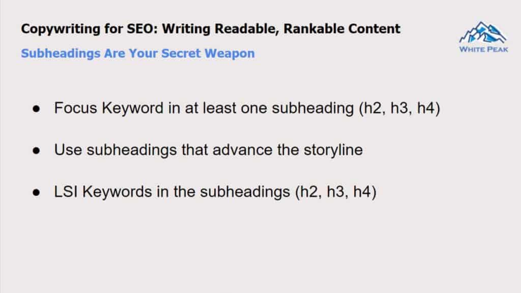 Subheadings Are Your Secret Weapon